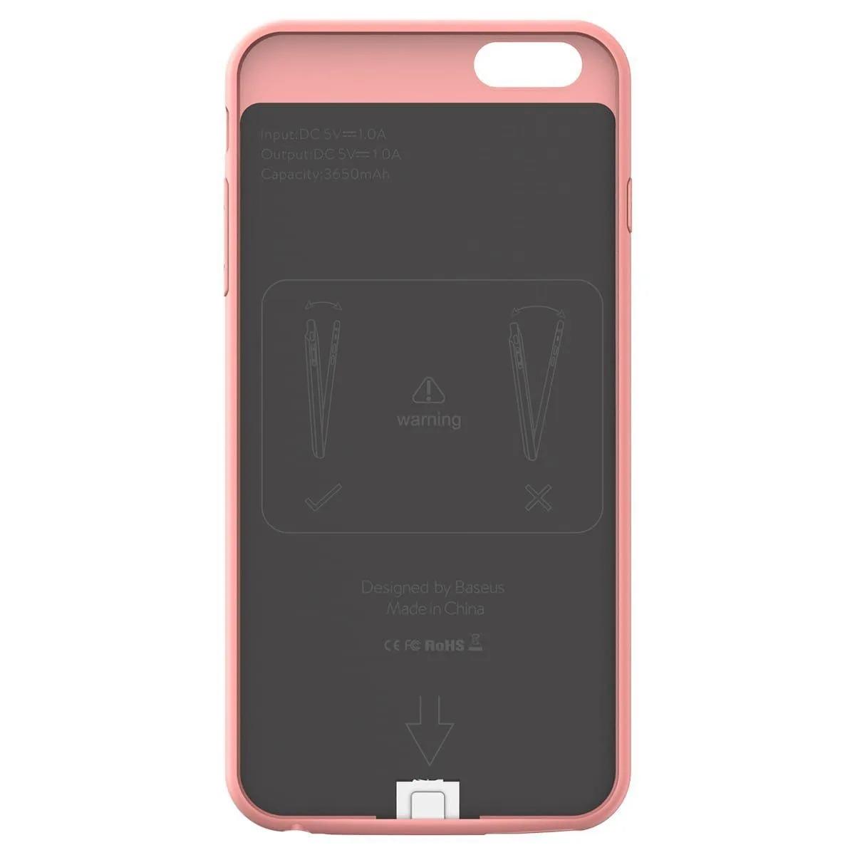 Capa Carregadora Baseus Plaid 2500mah Compatível com iPhone 6/6s