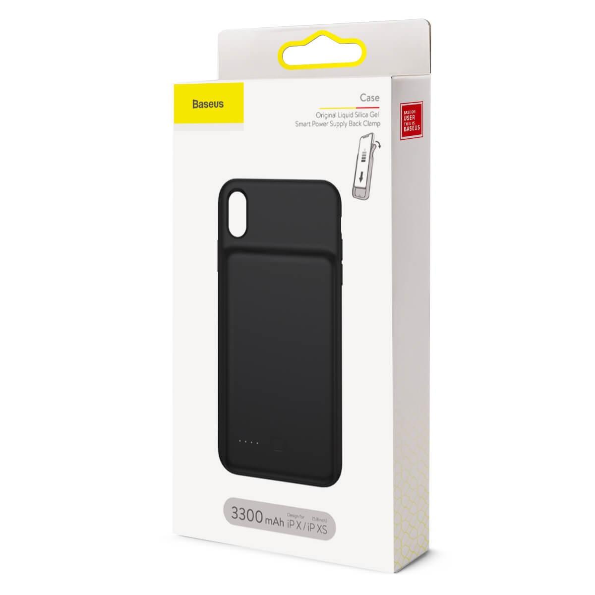 Capa Carregadora Baseus Plint Para iPhone X/XS Preta