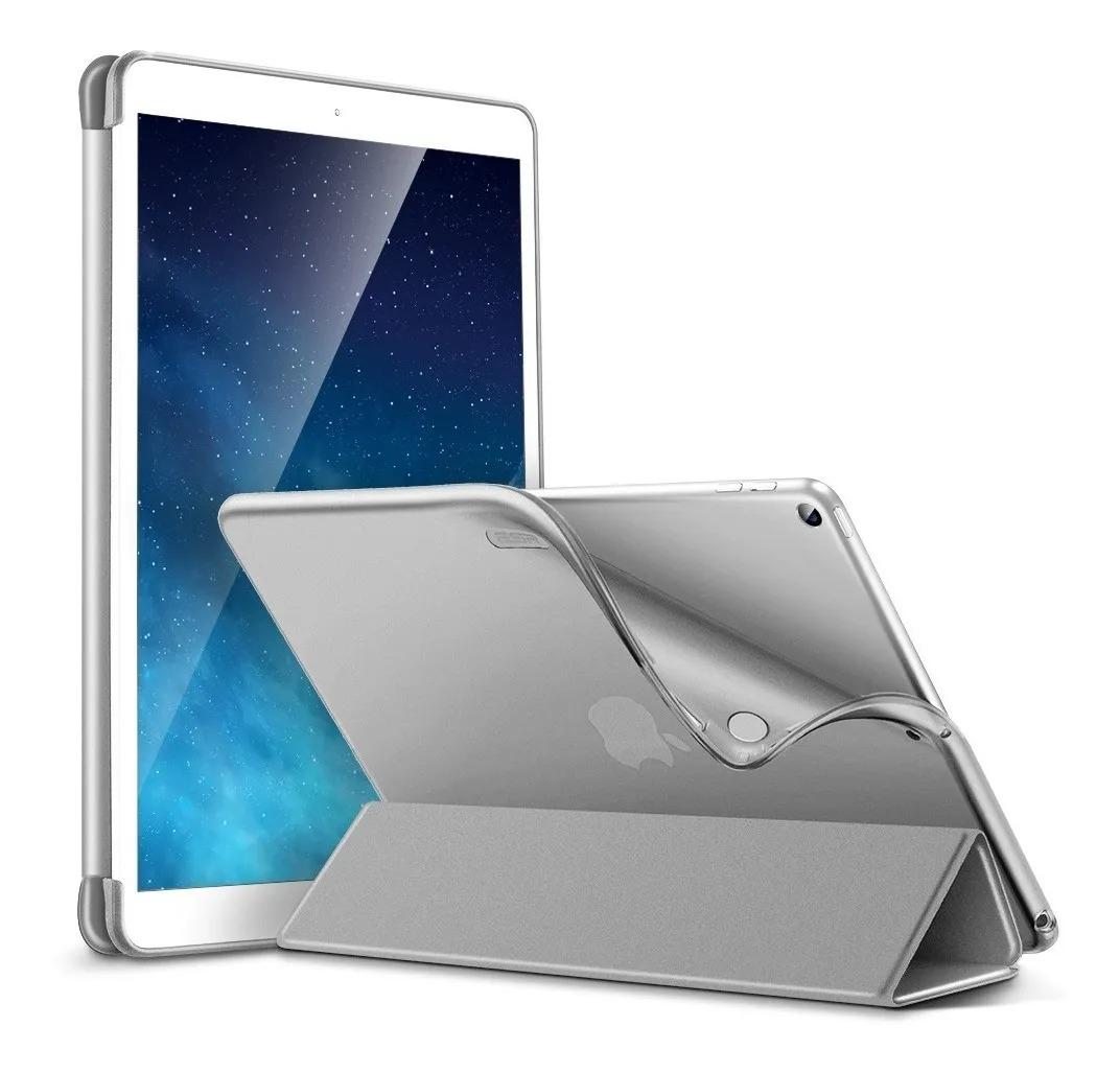 Capa Cinza com Costas Transparente Compatível com iPad 7/8