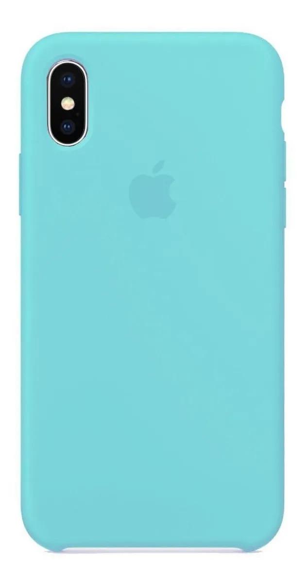 Capa Colorida de Silicone Compatível com iPhone XS Max