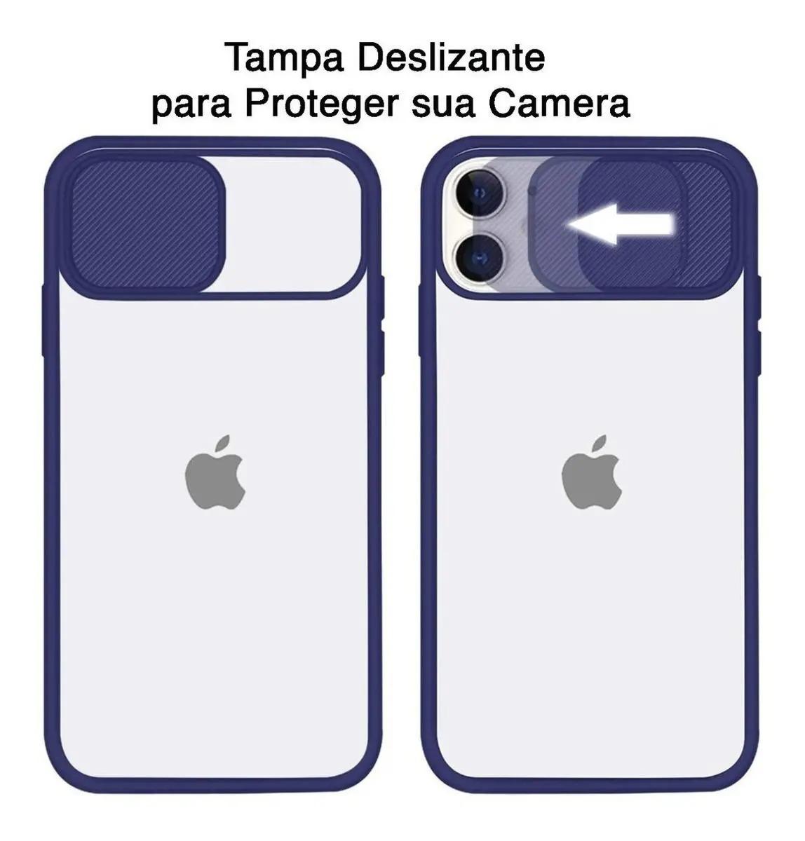 Capa Com Proteção Para Câmera Lilás  Compatível com  iPhone 12 Mini