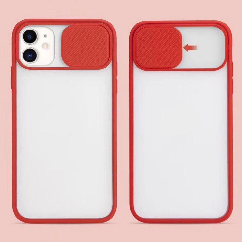 Capa Com Proteção Para Câmera Vermelho Compatível com iPhone 12 Pro
