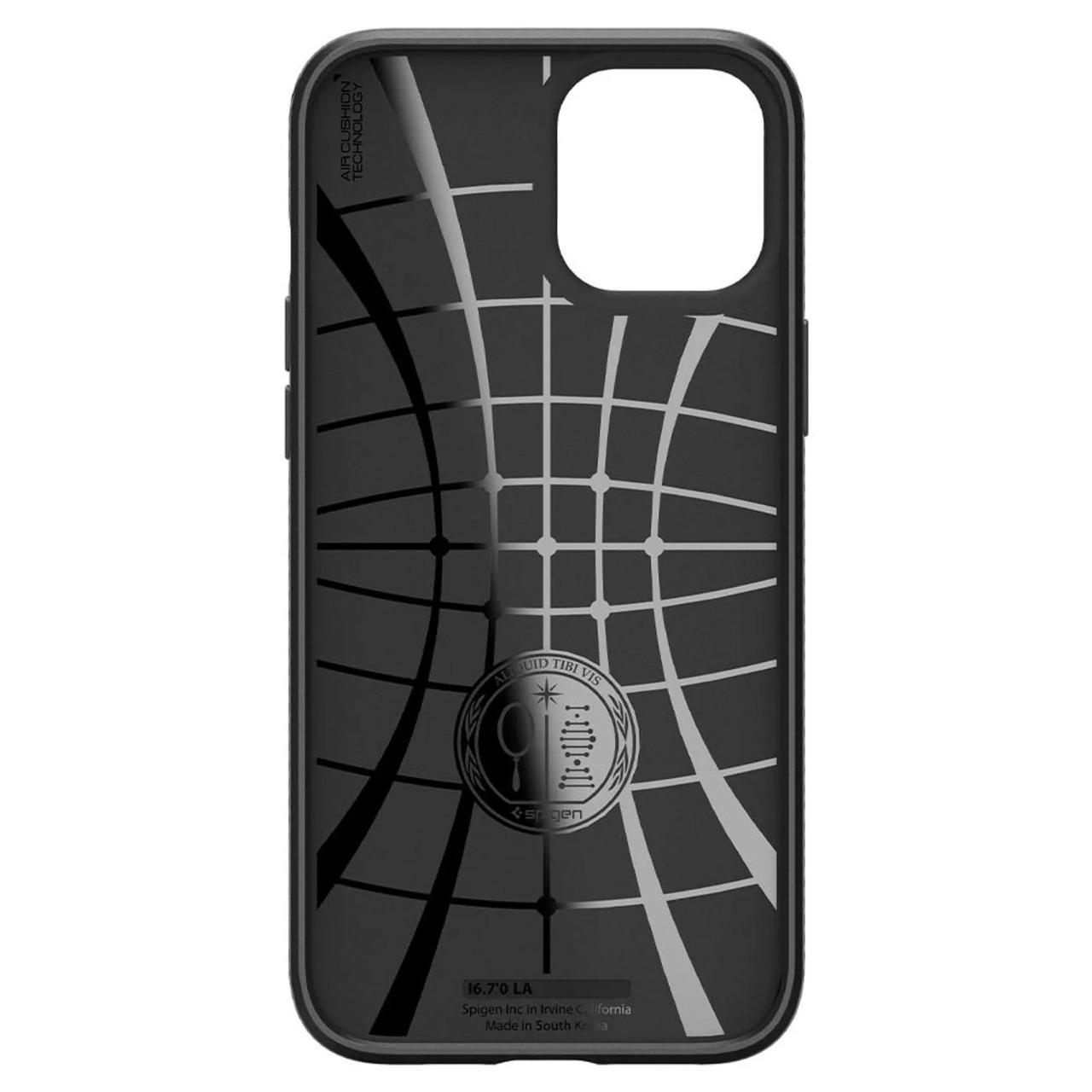 Capa Liquid Air Matte Black Compatível com iPhone 12/12 Pro