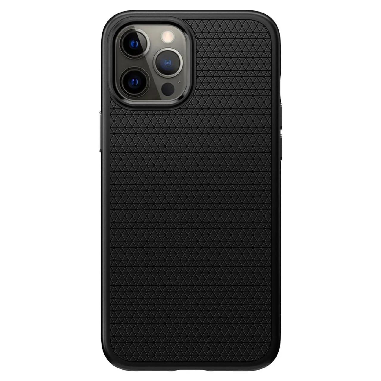 Capa Liquid Air Matte Black Compatível com iPhone 12 Pro Max