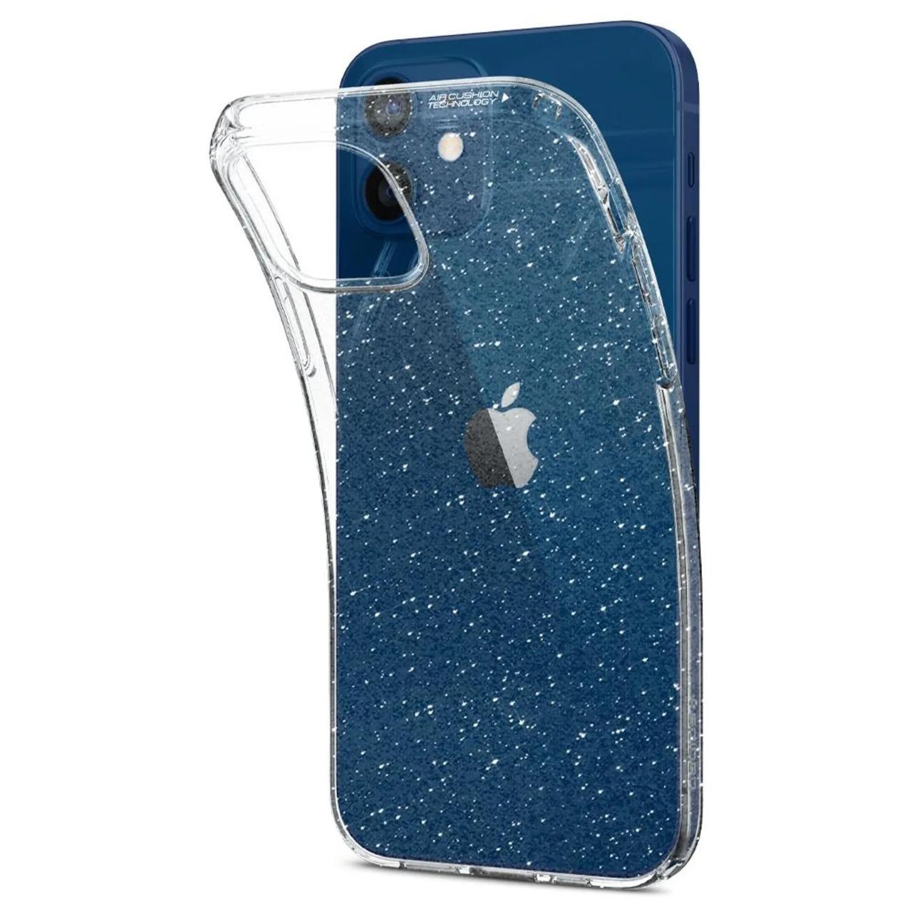 Capa Liquid Crystal Glitter Crystal Quartz Compatível com iPhone 12 Mini