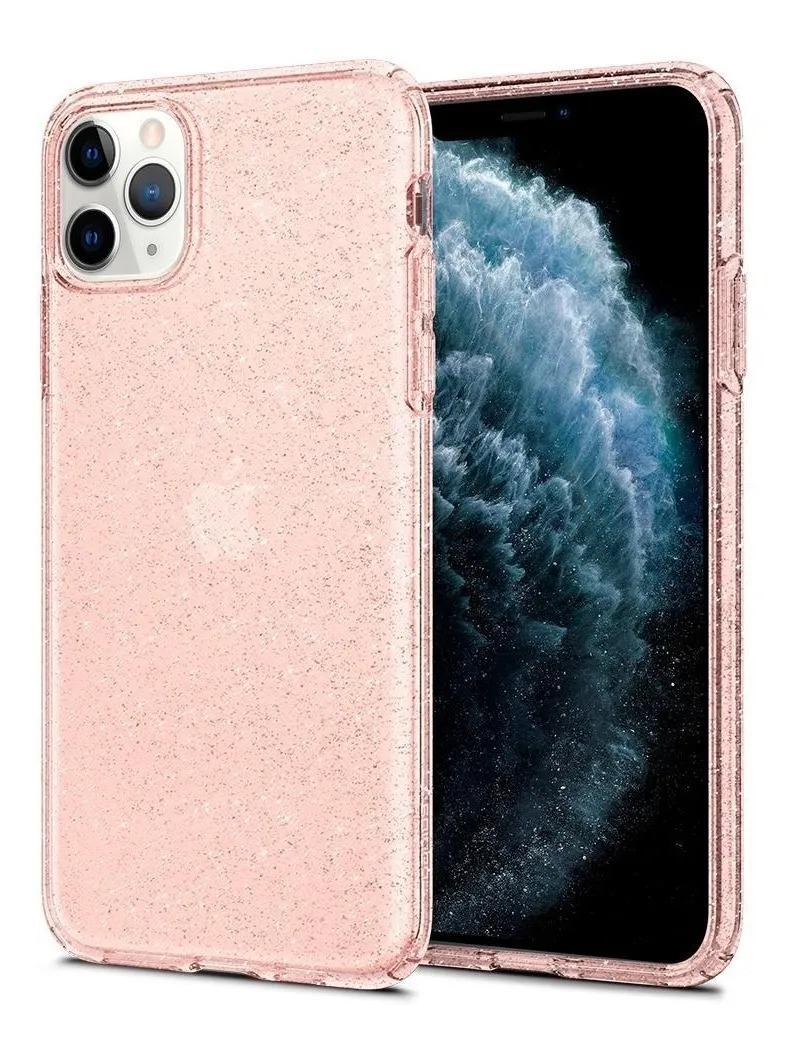 Capa Liquid Crystal Rose Compatível com iPhone 11Pro Max