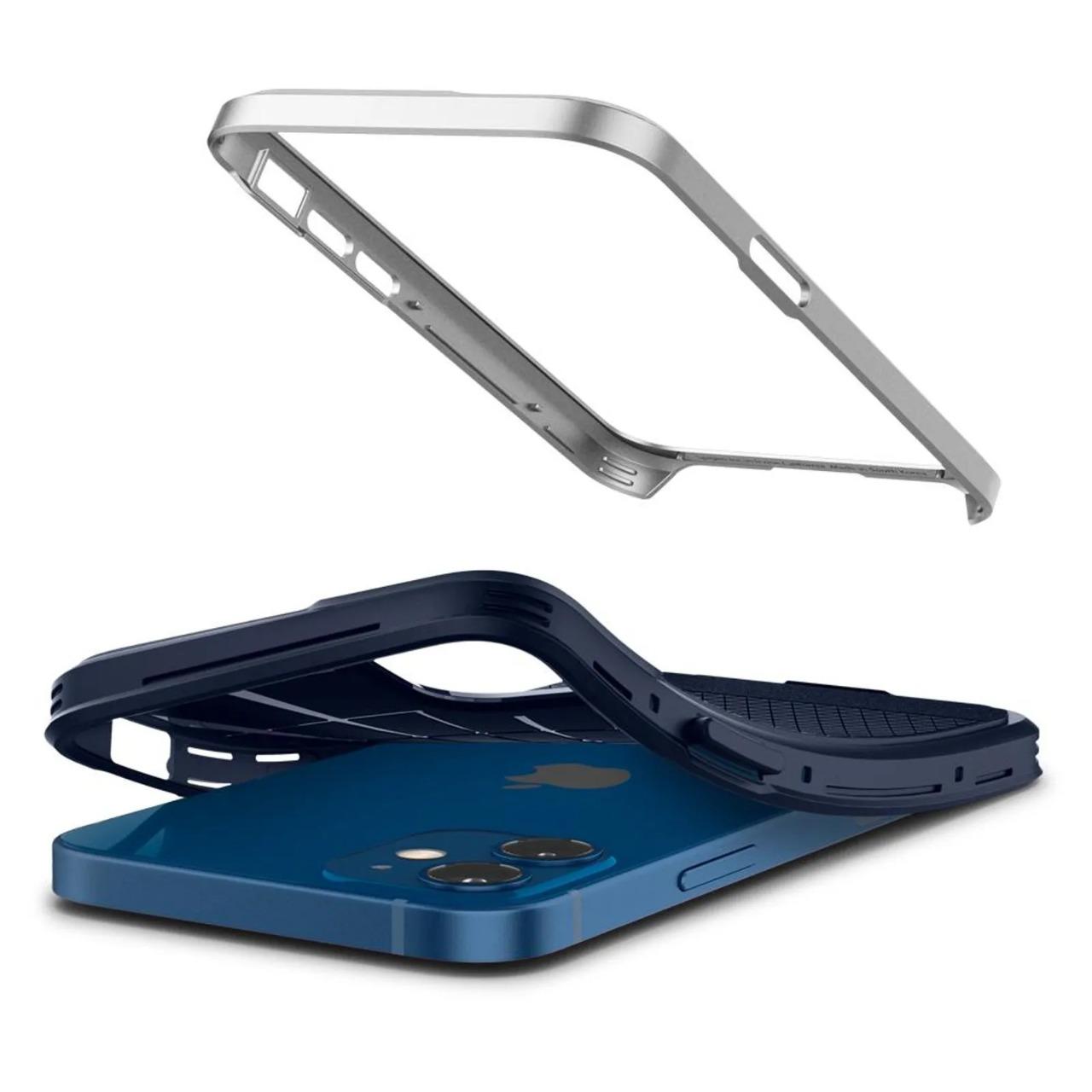 Capa Neo Hybrid Satin Silver Compatível com iPhone 12 Mini