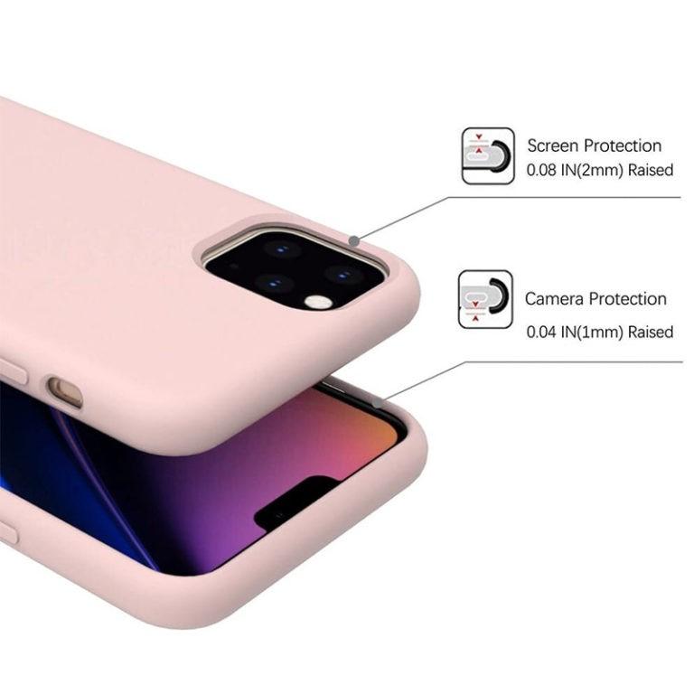 Capa Para iPhone 11 Pro Max Lift Silicone Case Preta
