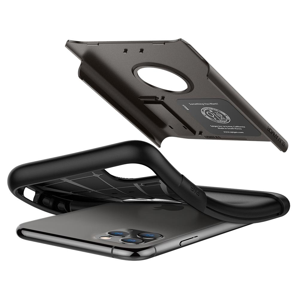 Capa Slim Armor Gunmetal Spigen Compatível com iPhone 11 Pro Max