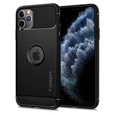 Capa para iPhone 11 Pro Max Spigen Rugged Armor Black