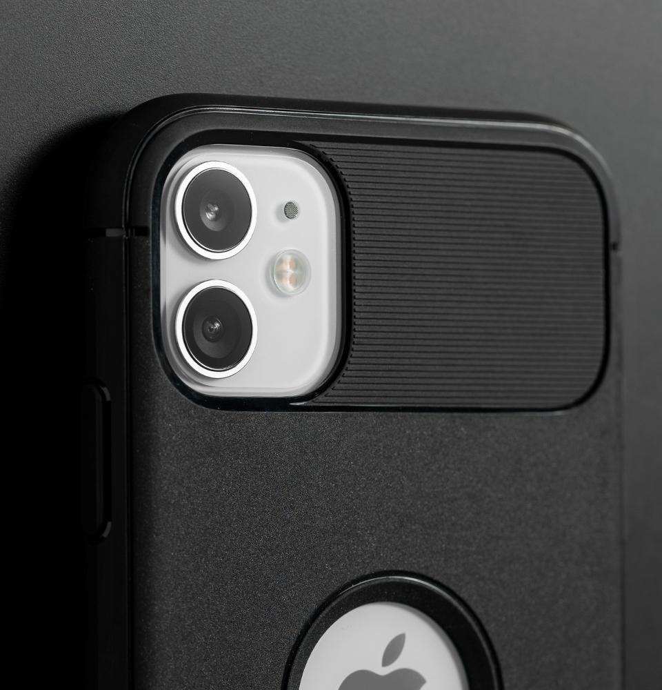 Capa para iPhone 11 Rugged Armor Matte Black Spigen