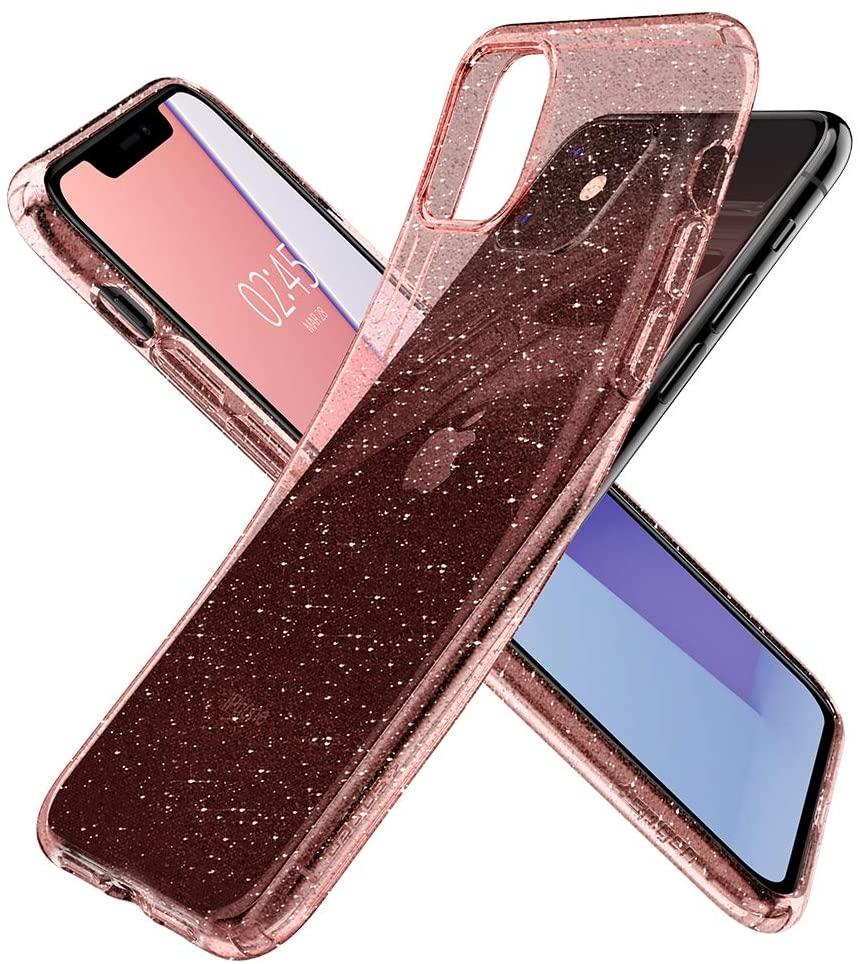 Capa Para iPhone 11 Spigen Liquid Crystal Glitter Rose Quartz