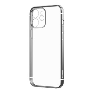 "Capa Para iPhone 12 Baseus Phone Case Shining Anti-Fall Preta (6.1"")"