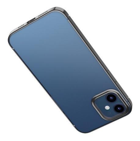 "Capa Para iPhone 12 Pro Max Baseus Glitter Phone Case Preta (6.7"")"