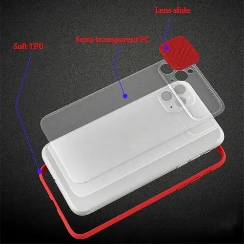 Capa Com Proteção Para Câmera Azul Compatível com iPhone 7 Plus