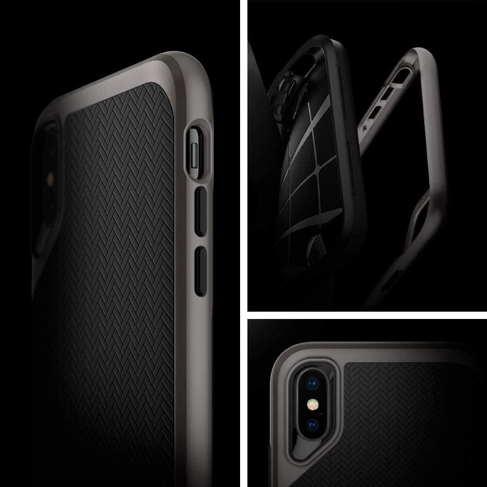 Capa Para iPhone XS Max Neo Hybrid Gunmetal Spigen