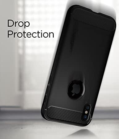 Capa Rugged Armor Matte Black Compatível com iPhone X/XS