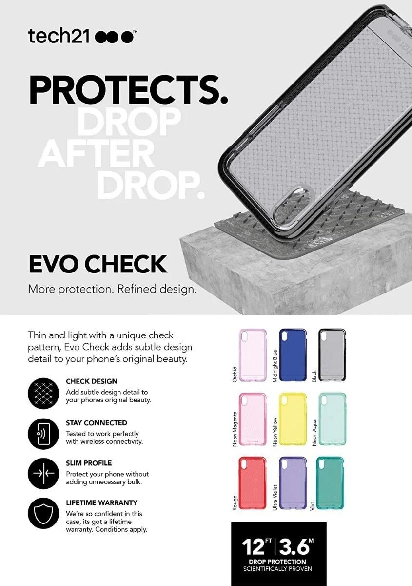 Capa Tech21 Evo Check Preta Compatível com iPhone XR