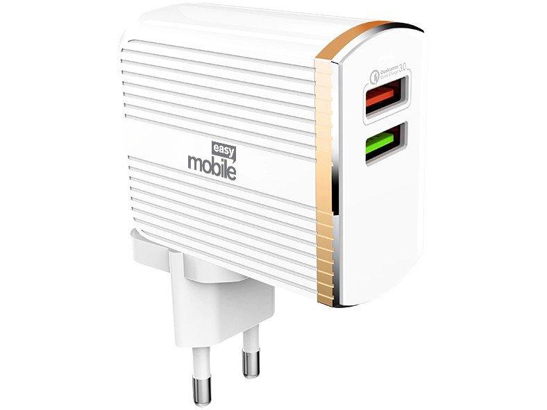 Carregador de Parede Turbo Easy Mobile 2 Entradas USB Bivolt