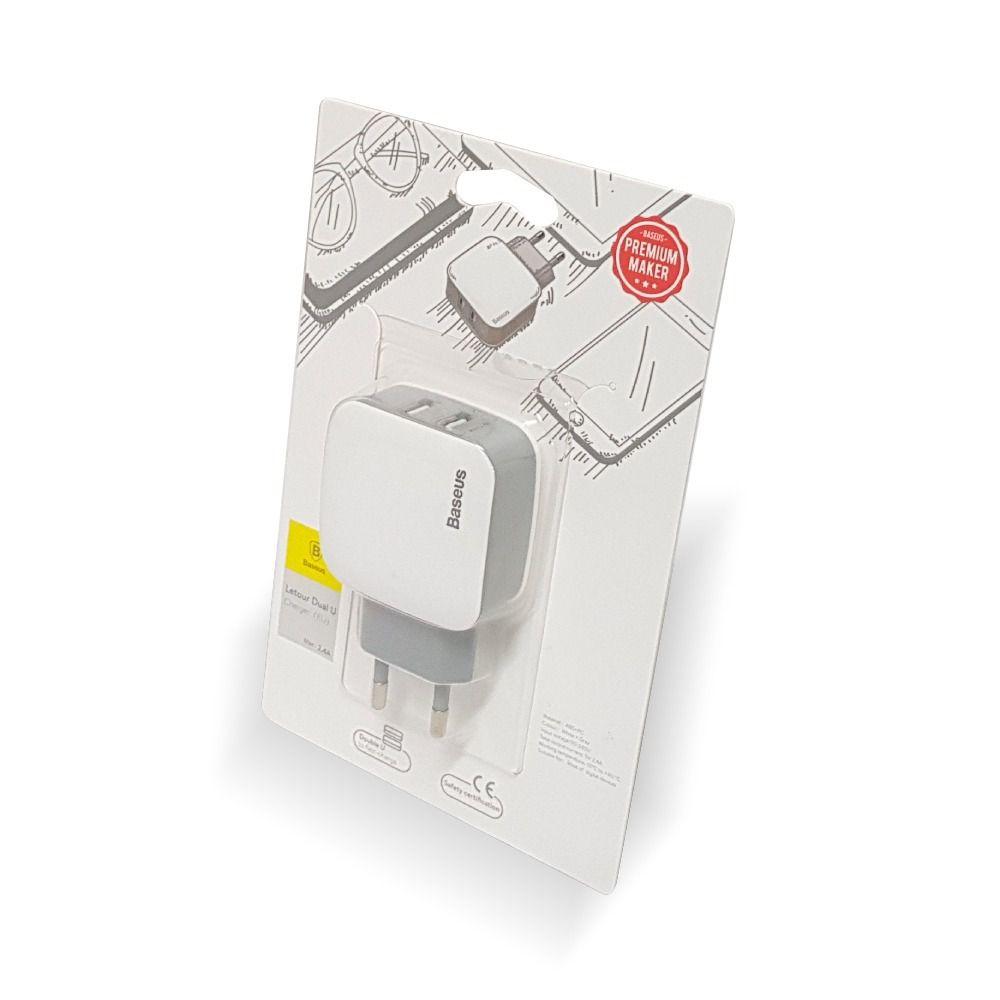 Carregador de Tomada Baseus Letour Dual U - 2 USB