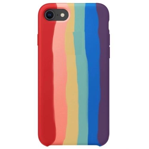 Case Arco Íris de Silicone Compatível com iPhone 7/8