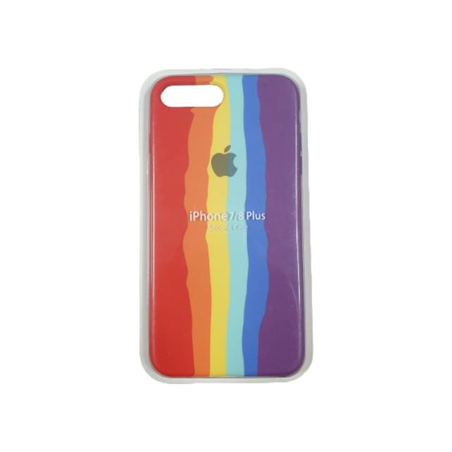 Case Arco Íris de Silicone Compatível com iPhone 7/8 Plus