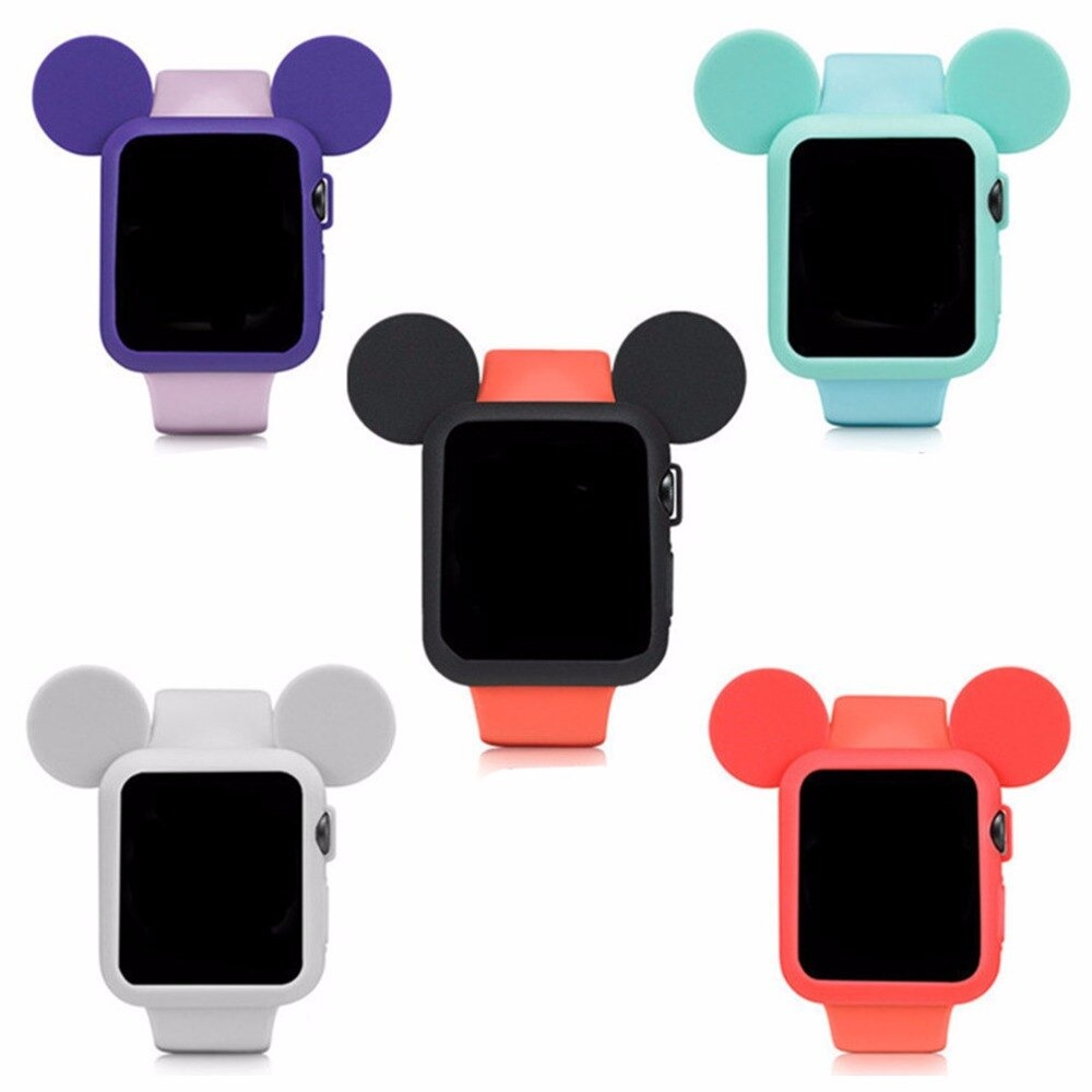 Case do Mickey Mouse Cinza Para Apple Watch 38mm