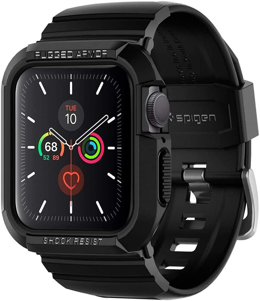 Case Spigen Para Apple Watch 6/SE/5/4 40mm Rugged Armor Preta