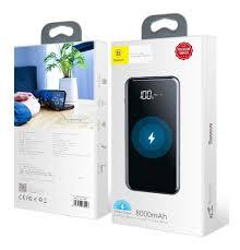 Power Bank Qi Fast Sem Fio Display Digital Baseus - 8000mah