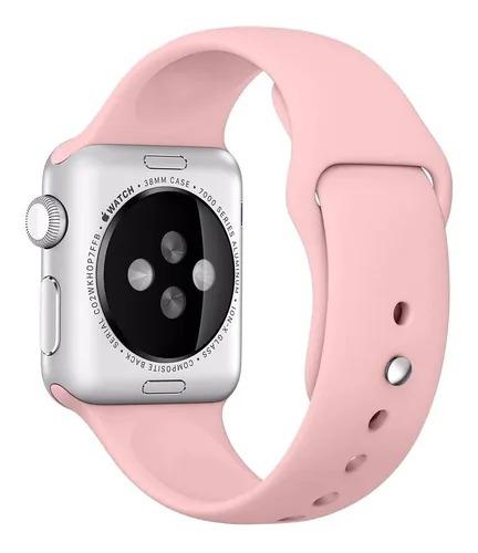 Pulseira de Silicose Rose Para Apple Watch (42/44mm)
