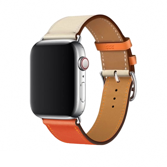 Pulseira Hermes Índigo Orange 42/44mm