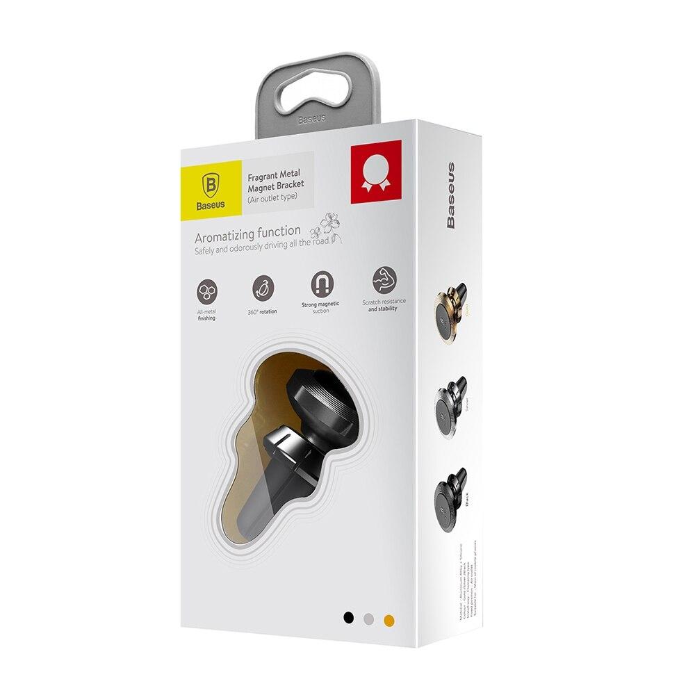 Suporte Veicular Magnético Com Aromatizador Baseus Preto