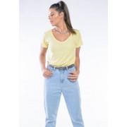 Camiseta Manga Curta Basic Woman Amarela