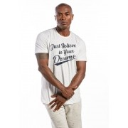 Camiseta Manga Curta Branca Dreams