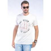 Camiseta Manga Curta branco Navy