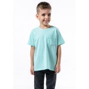 Camiseta Manga Curta C/ Bolso Basic Kids Verde Claro