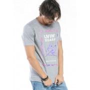 Camiseta Manga Curta cinza Birds