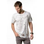 Camiseta Manga Curta Full Maps Amêndoa