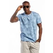Camiseta Manga Curta Full Palm Azul Claro