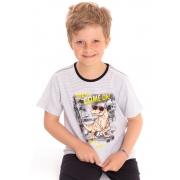 Camiseta Manga Curta Infantil Listrada T-Rex Branco