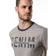 Camiseta Manga Curta Listrada Authentic Denim Off White