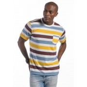 Camiseta Manga Curta Listrada Colors Off White