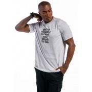 Camiseta Manga Curta Listrada Exactly Cinza Mescla