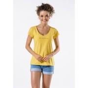 Camiseta Manga Curta Live Woman Amarela