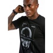 Camiseta Manga Curta Long Skull Preta