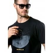 Camiseta Manga Curta Moon Walk Preta