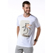 Camiseta Manga Curta Padaling Branco