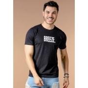 Camiseta Manga Curta Preta Breeze