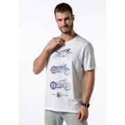 Camiseta Manga Curta Riders Rote 66 Branco