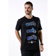 Camiseta Manga Curta Riders Rote 66 Preto